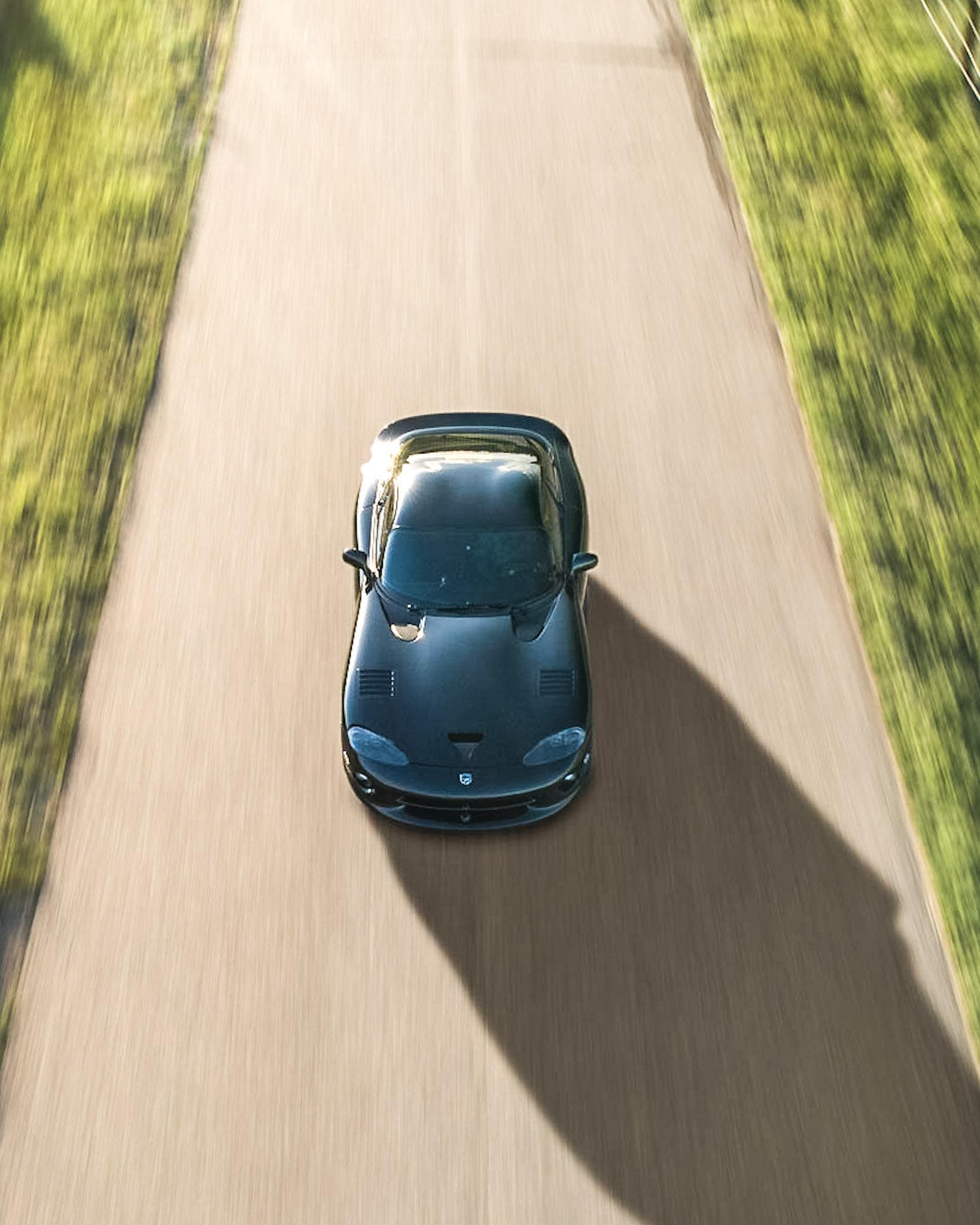 Viper GTS aerial automotive photography brian laiche