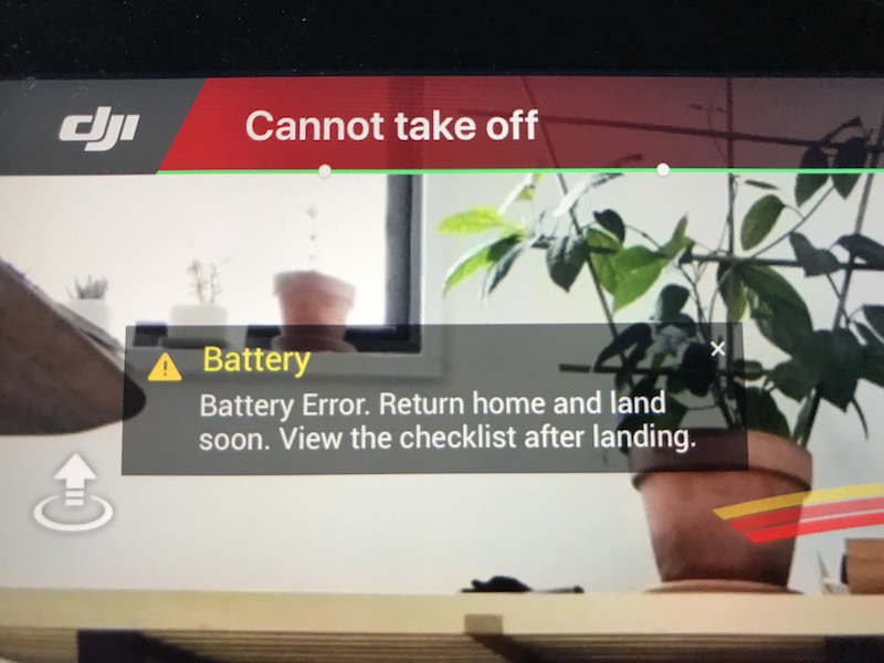 dji mavic pro battery error