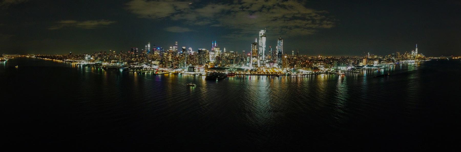 NYC Panorama GWB to VN Bridge