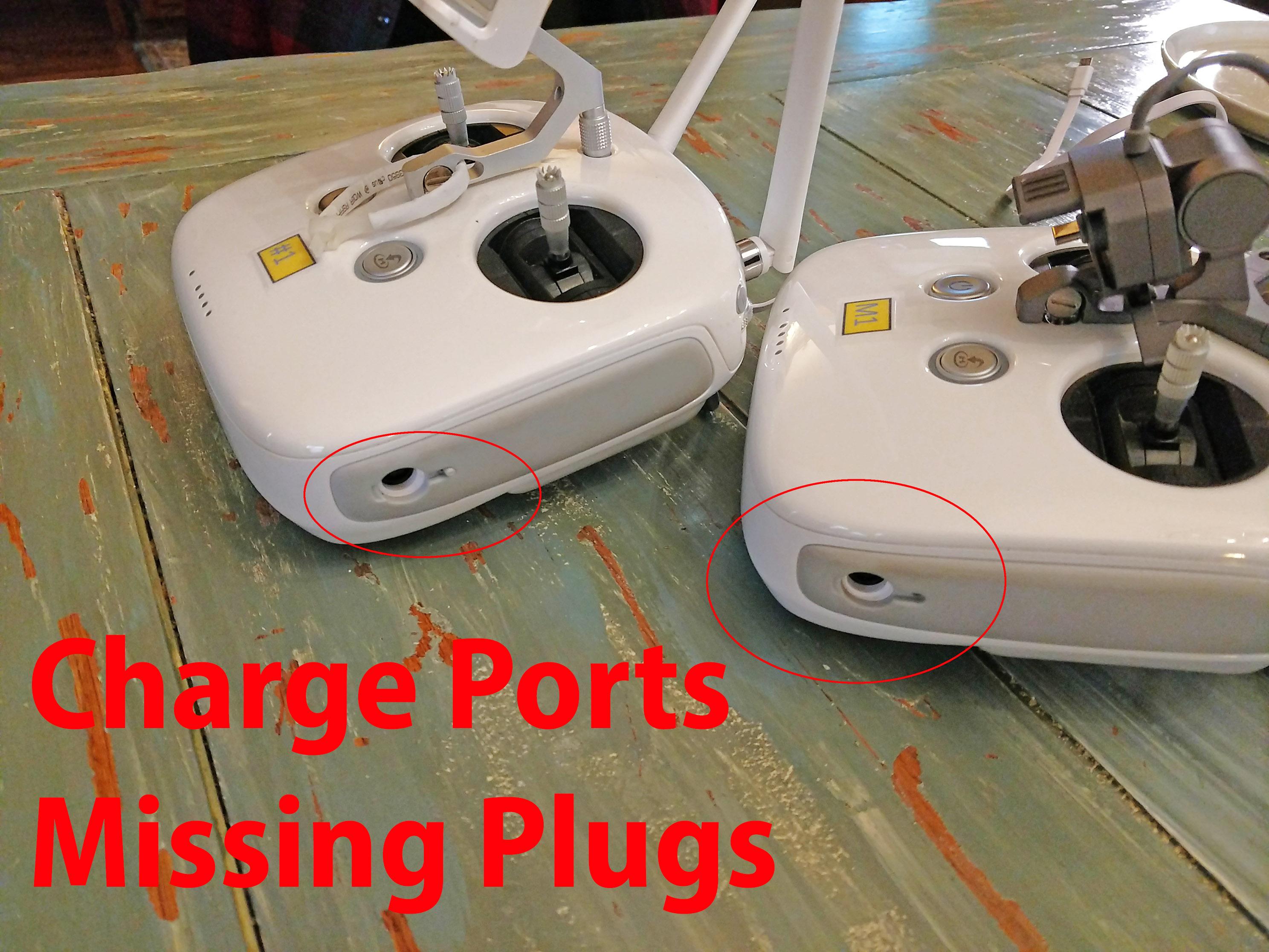 DJI radio controllers missing charge port contamination plugs.jpg