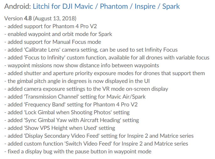 LITCHI-New Version (Aug-2018) | DJI FORUM