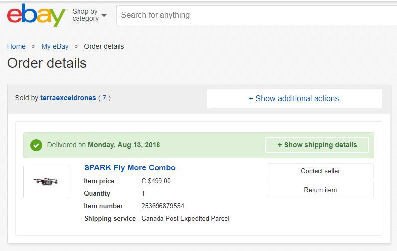 Buyng Spark In Ebay Dji Forum