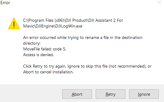 Assistant install error