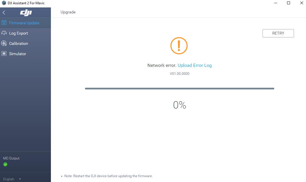 Firmware update failure | DJI FORUM