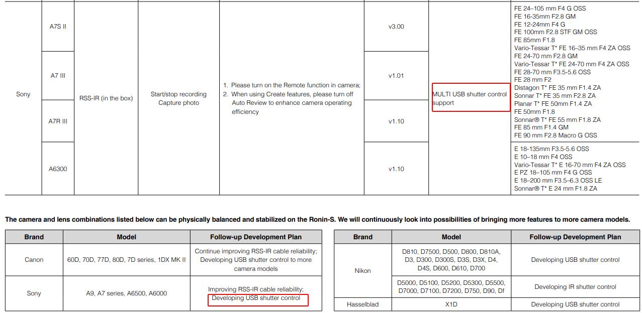 Ronin-S & Sony compatibility   DJI FORUM