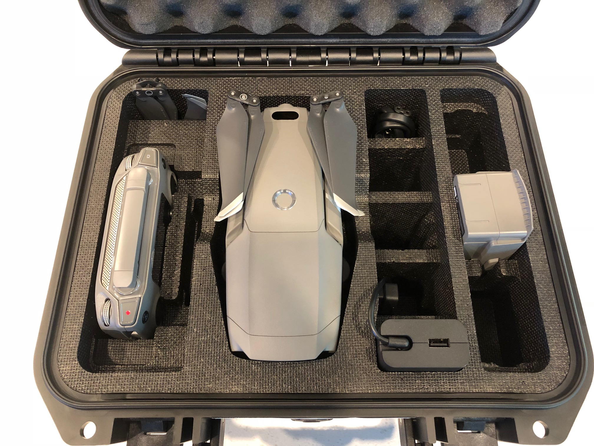 Case with drone inside.
