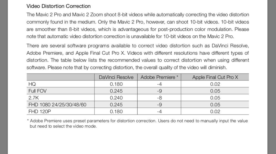 Barrel distortion fix in Final Cut Pro X? | DJI FORUM