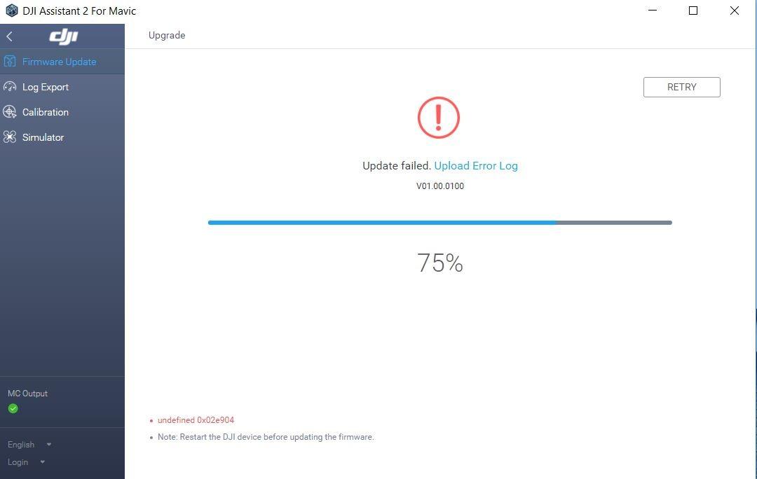 Mavic 2 Zoom Update Failed.JPG