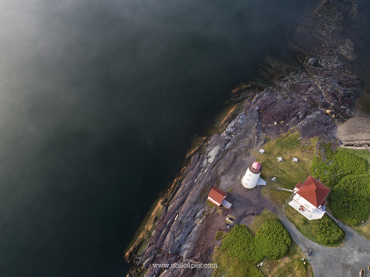 Awerial View of 150 Years Old Light House in Quebec