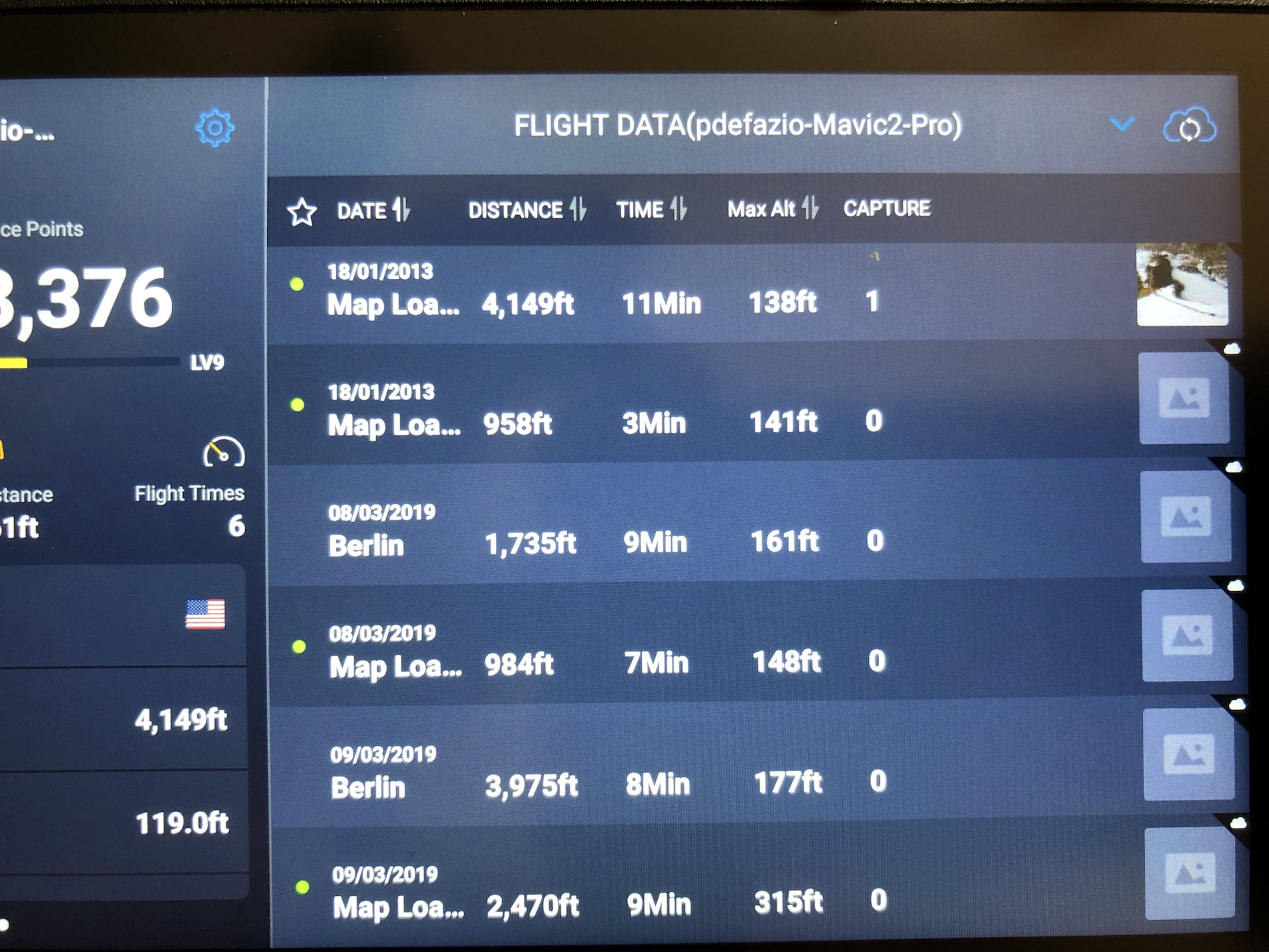 Flight Data Screen
