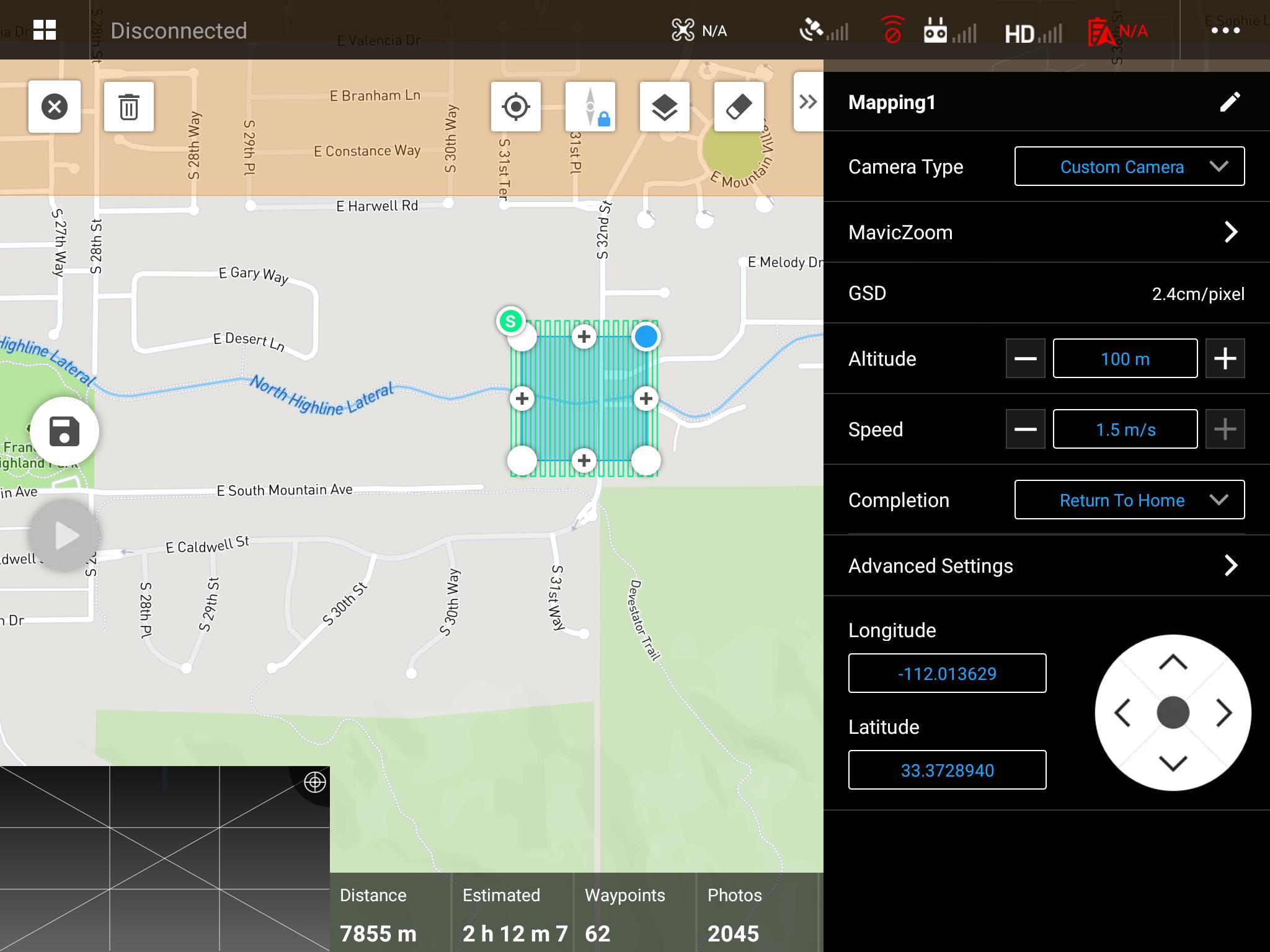 DJI Pilot Mapping Mission test on Mavic V2 Zoom | DJI FORUM