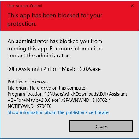 Windows 10 Blocked