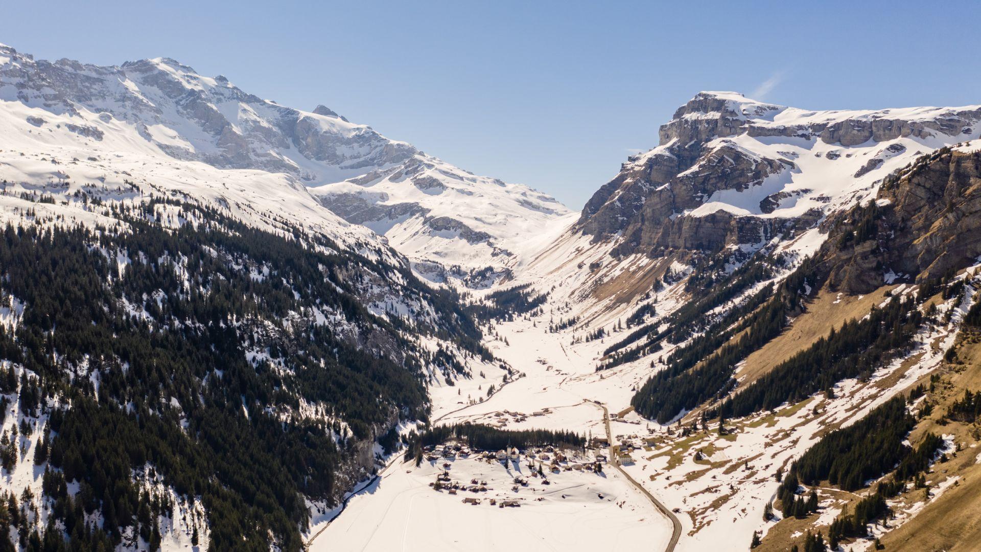 Viewing West towards Klausen Pass