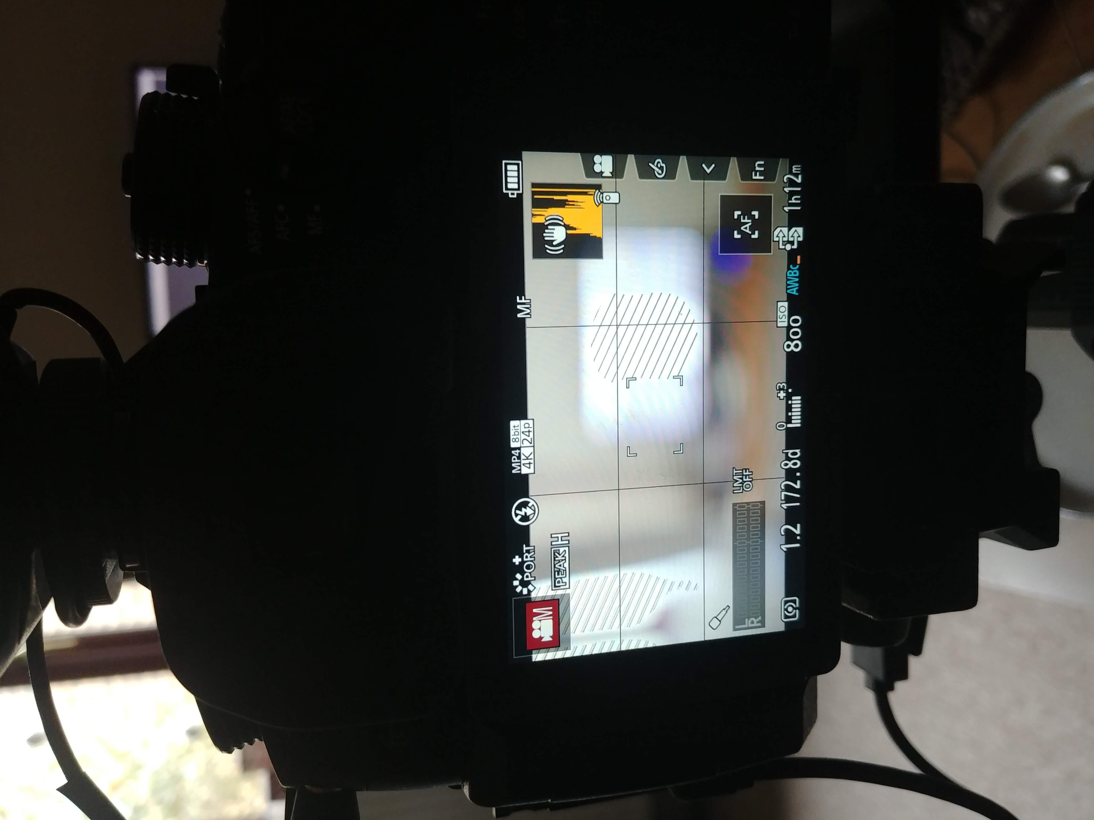 Screen Image of camera