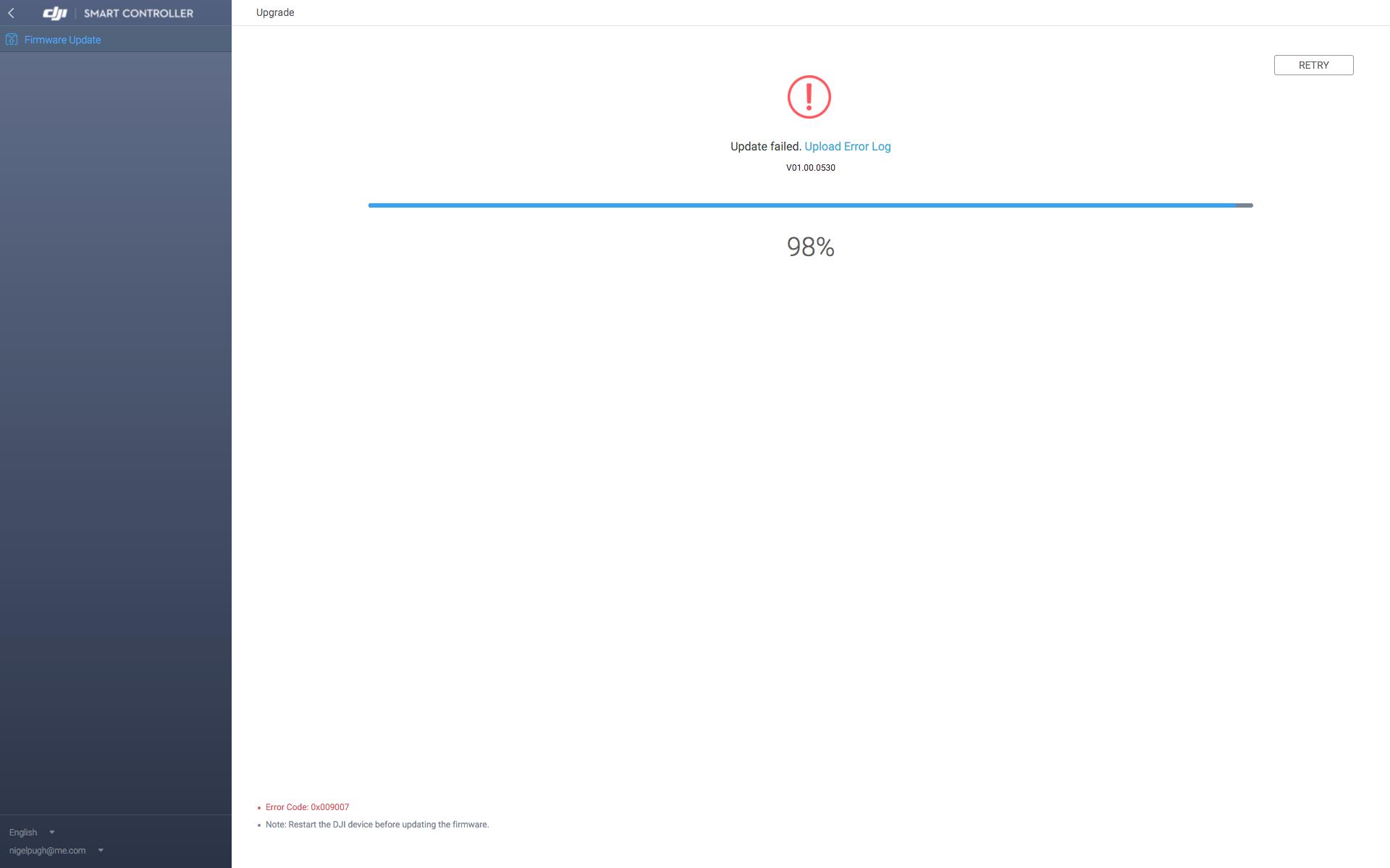 update fail