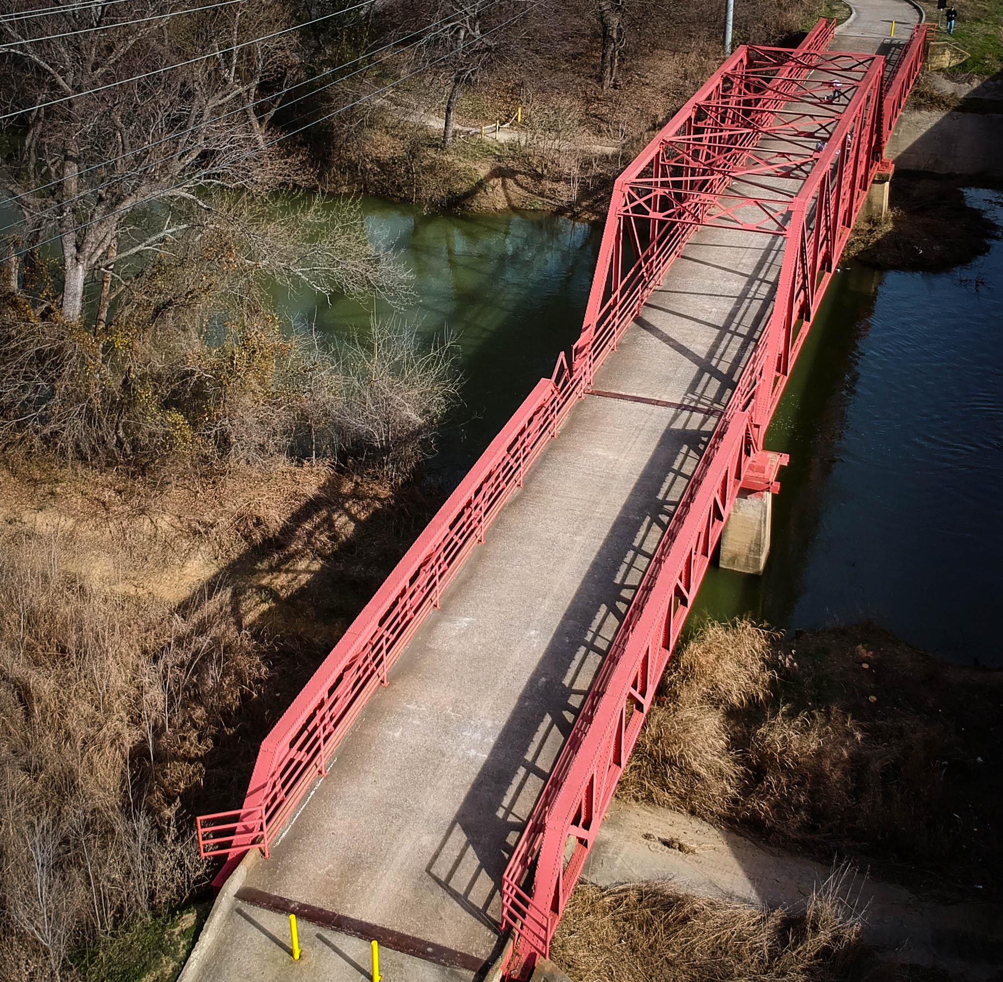 Old Red Bridge in Aubrey, TX