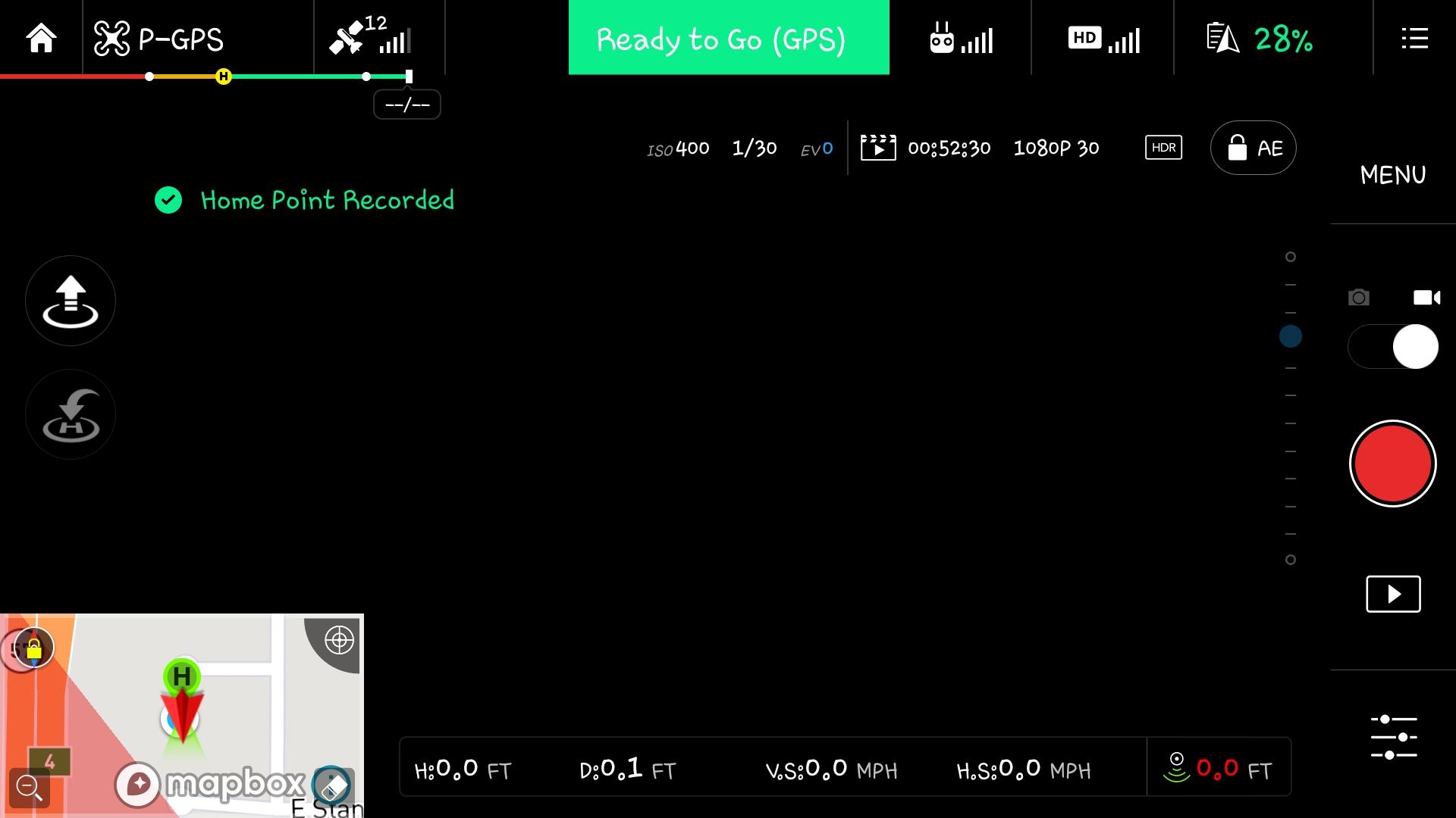 DJI GO app main view