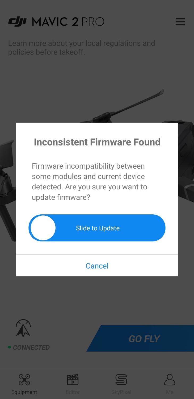 atualizar firmware mavic pro pelo pc