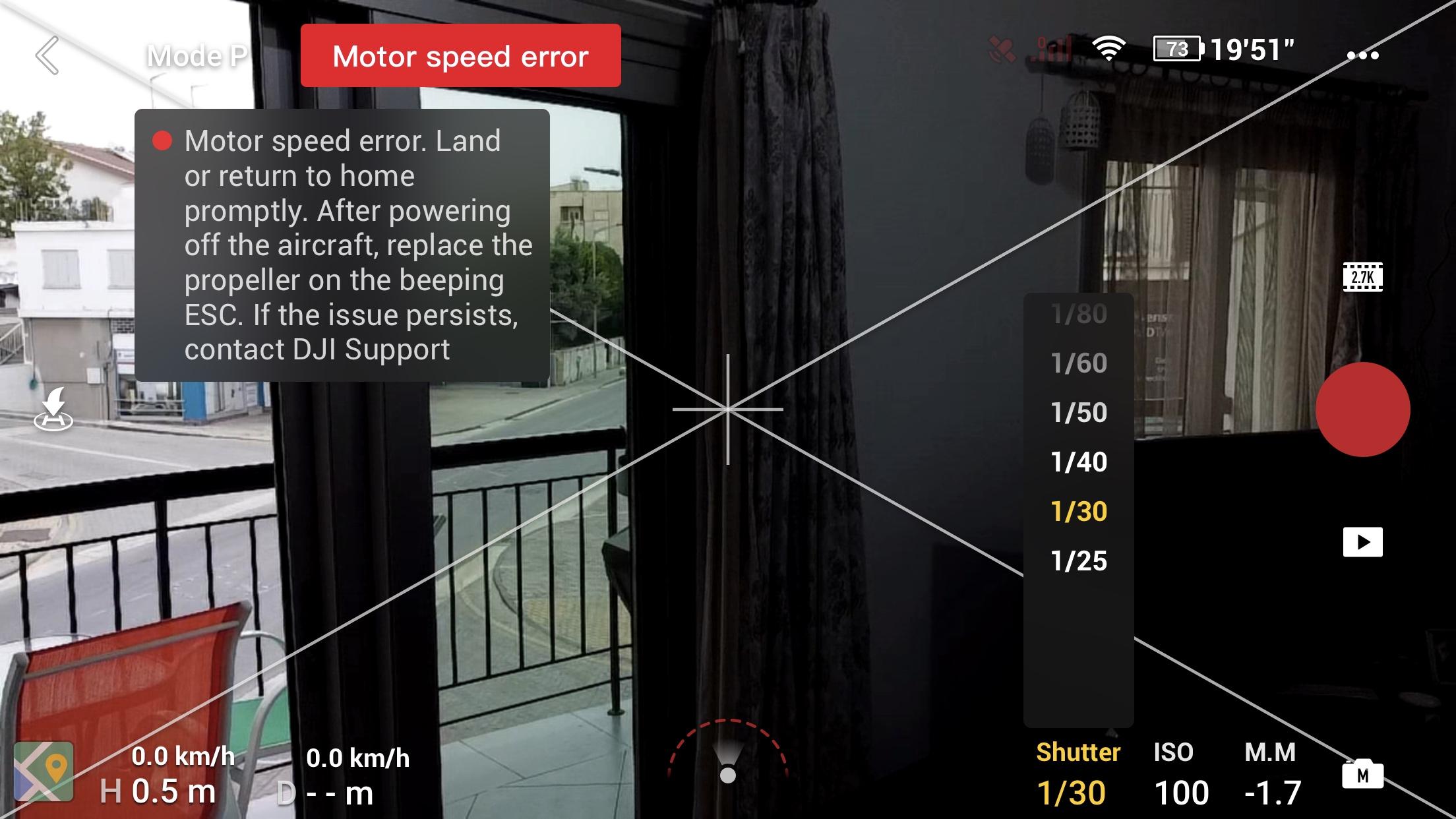 MOTOR SPEED ERROR