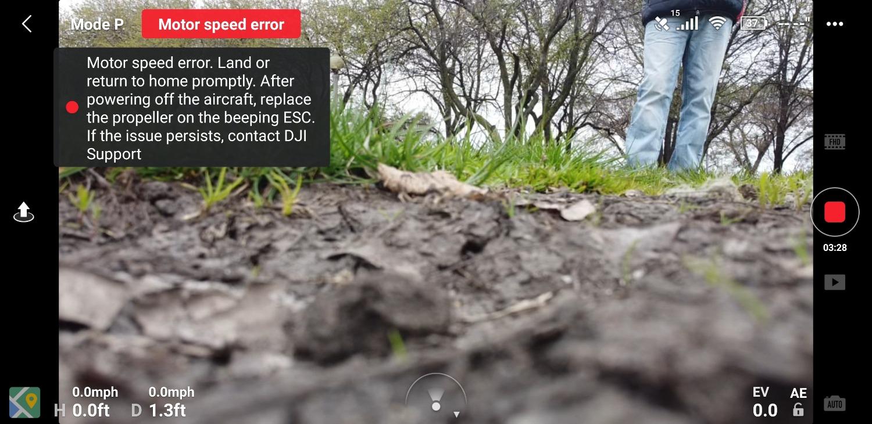 Motor Speed Error After 04 2020 Firmware Dji Forum