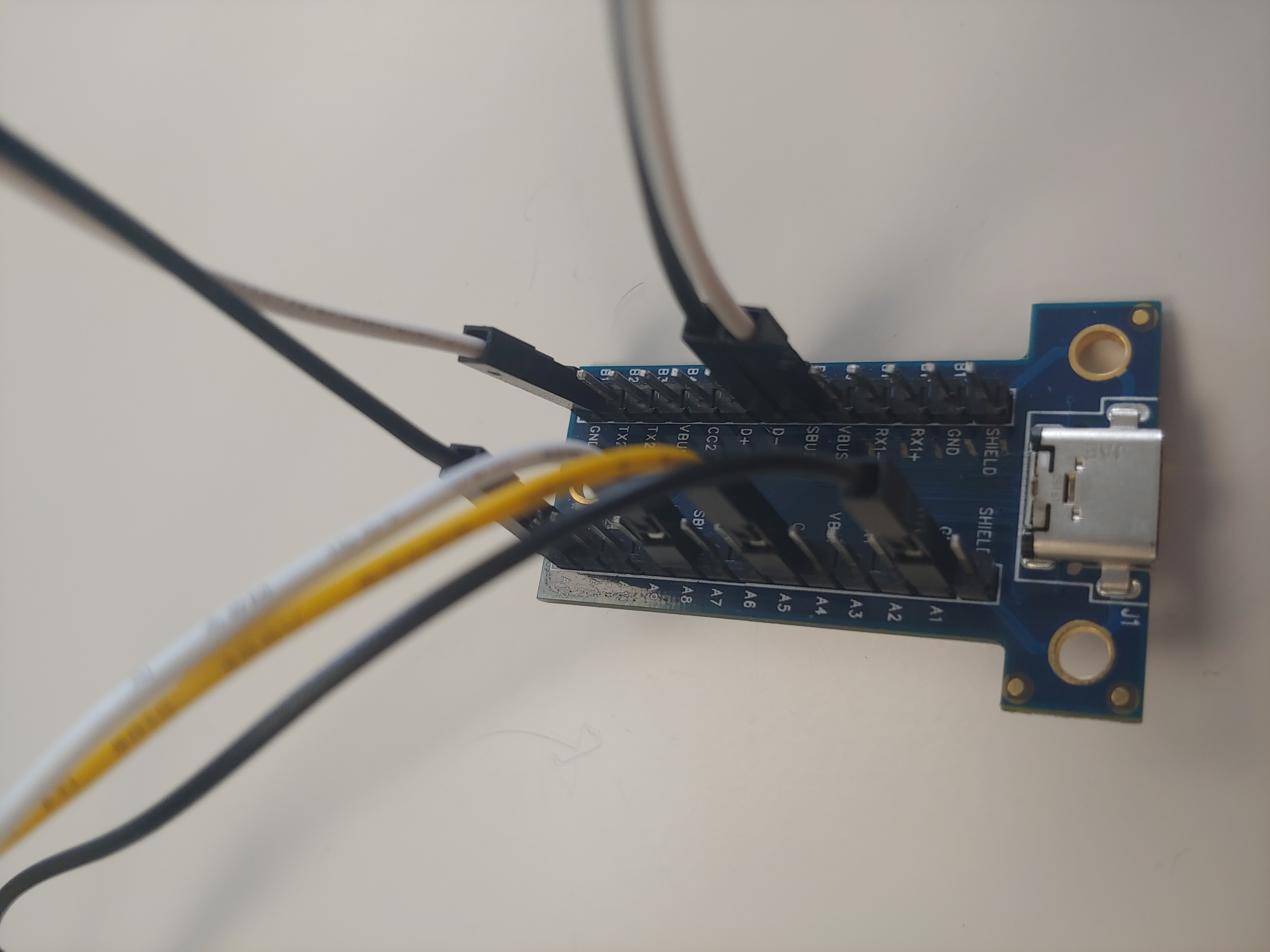 The UART connection (USB-ttl FTDI cable)