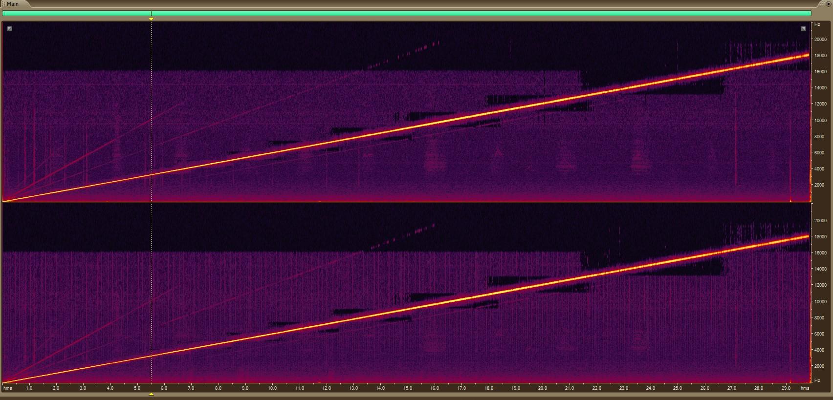 Zoom H1n mics spectral