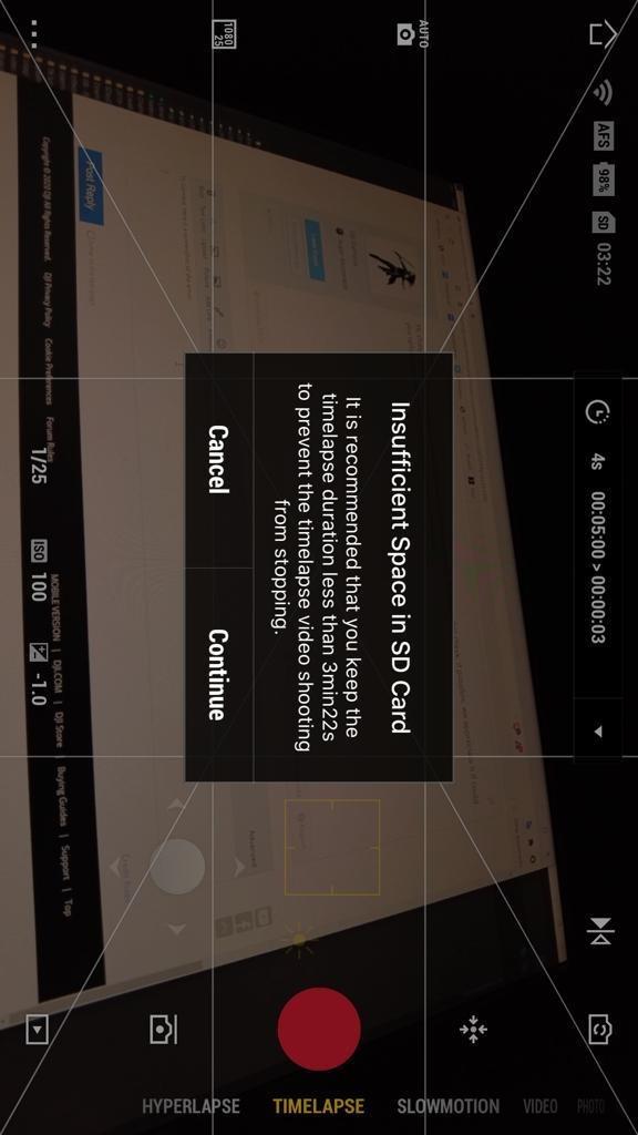 Mimo timelapse SD space error.jpeg