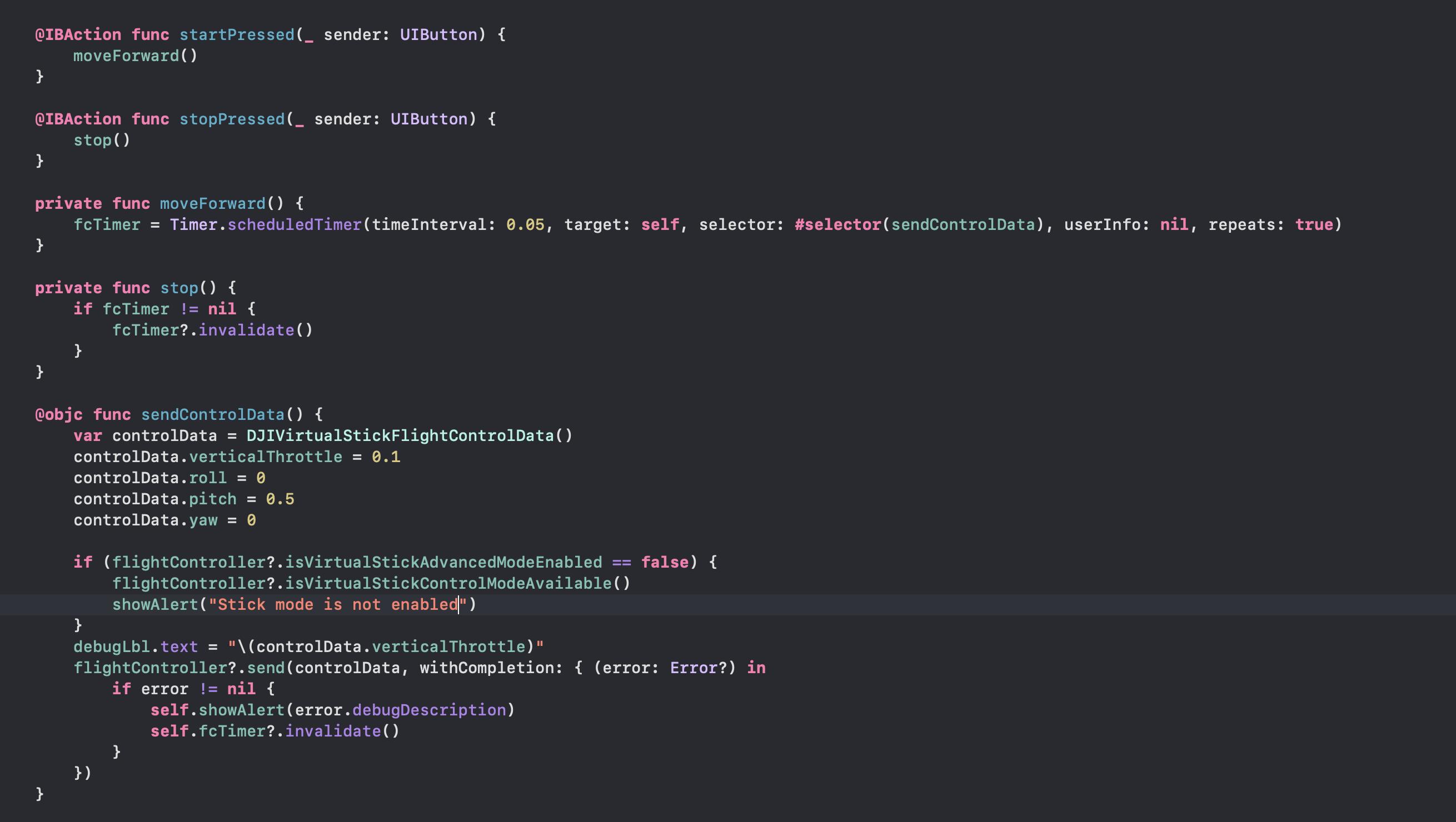 Swift code cont.