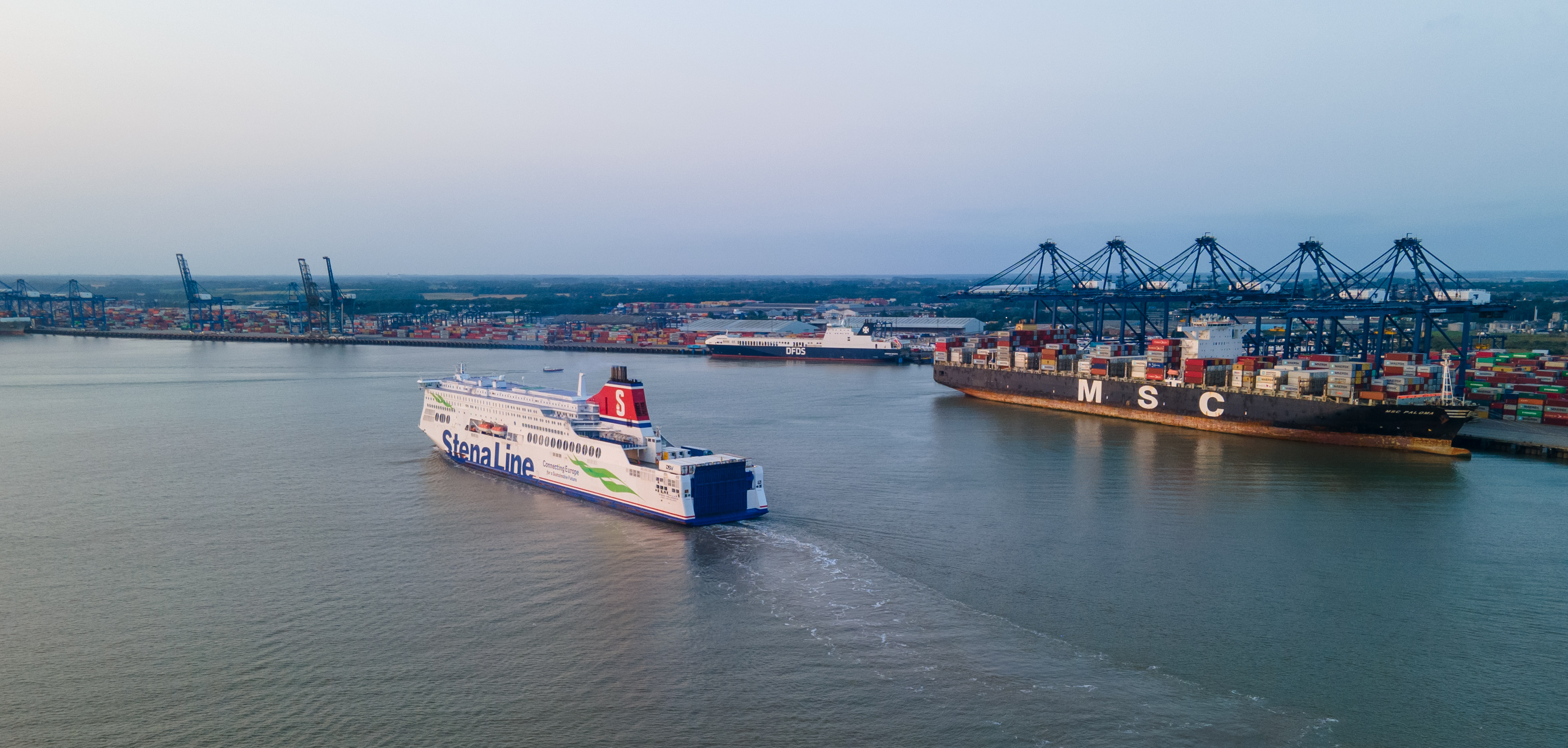 Harwich Ferry from Hook of Holland