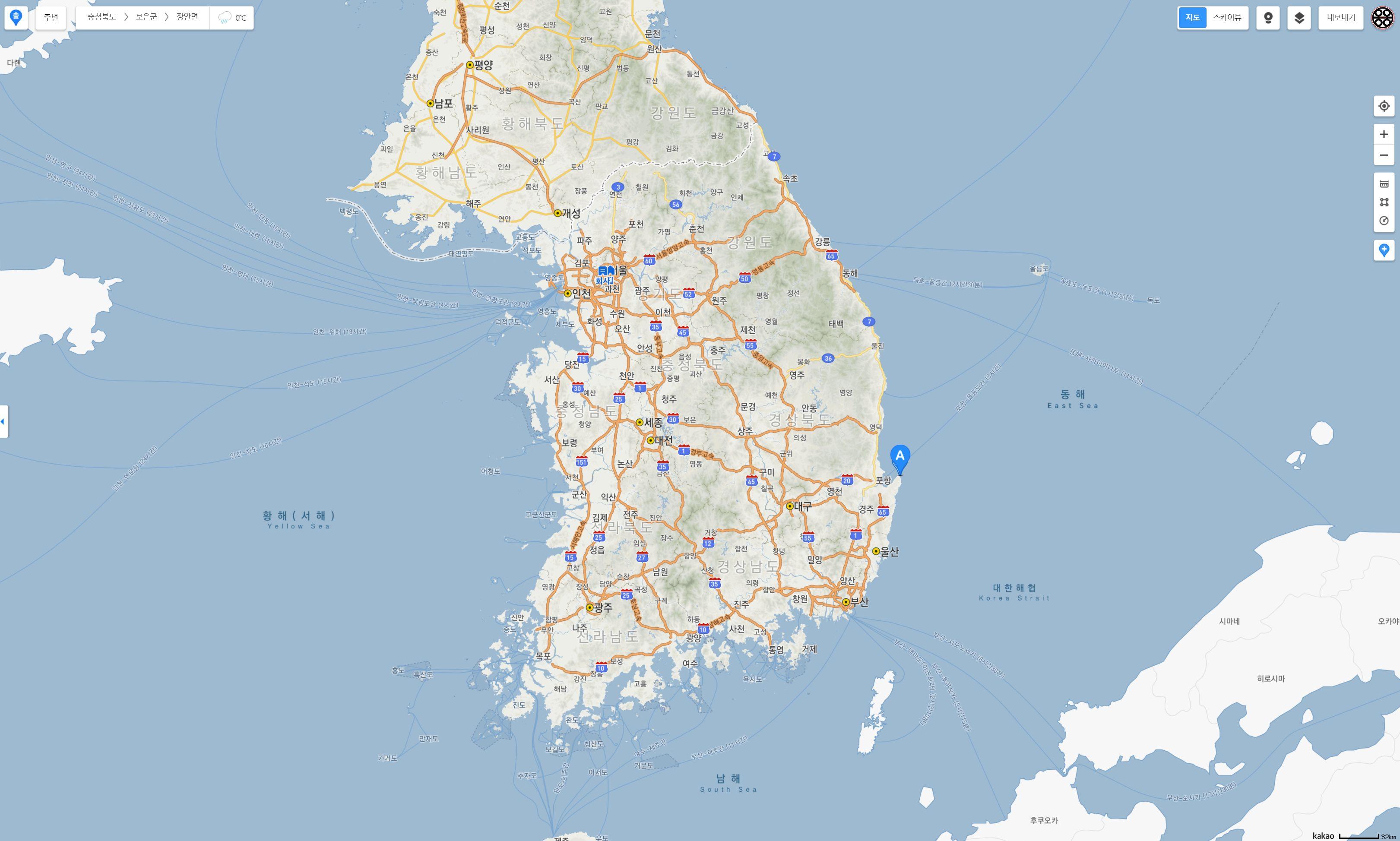 the tail of Korea